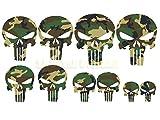 Punisher Aufkleber 10 x camouflage tarnlook Totenkopf Aufkleber skull Spiegel Hardcore