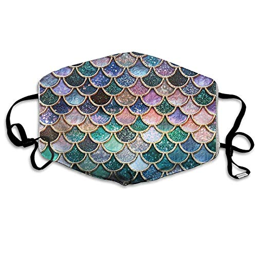 Fashion Outdoor Mouth Mask with Design, Reusable Half Face Mask Anti-dust Mask, Adjustable Mouth Masks for Dust, Unisex Mermaid Scales Windproof Face Mask Filters Flu Germs for Men Women (Gas Cap Can)