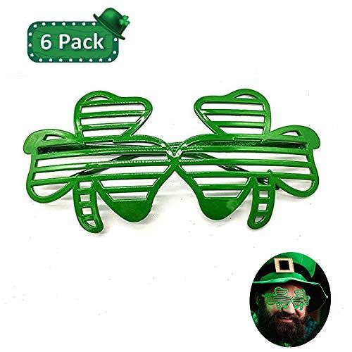 Deeumy 6 Stück St. Patrick's Tagesgrün Brille
