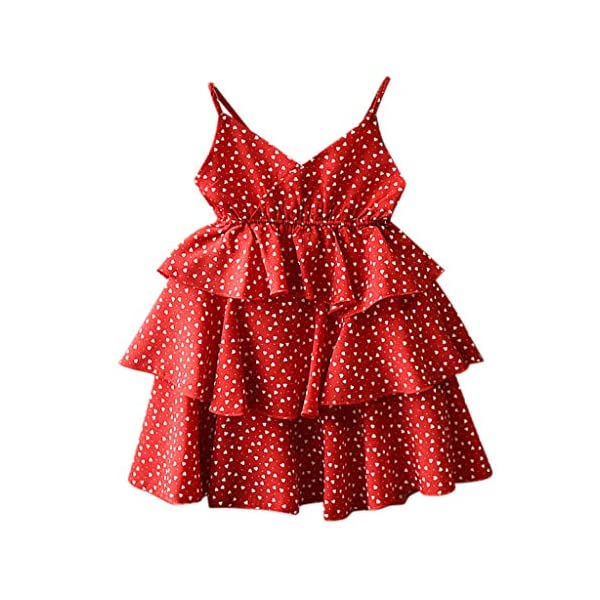 JYC 2019 Baby Girl Dresses | Toddler Kids Clothes Sleeveless Love Printing Party Princess Dress (Red120/13) JYC - Baby Clothes Recommended Age:2-3 Years Label Size:7/90 Bust:52cm/20.47'' Length:53cm/20.87'' Height:85-90cm Recommended Age:3-4 Years Label Size:9/100 Bust:54cm/21.26'' Length:55cm/21.65'' Height:95-100cm Recommended Age:4-5 Years Label Size:11/110 Bust:56cm/22.05'' Length:58cm/22.83'' Height:105-110cm 1