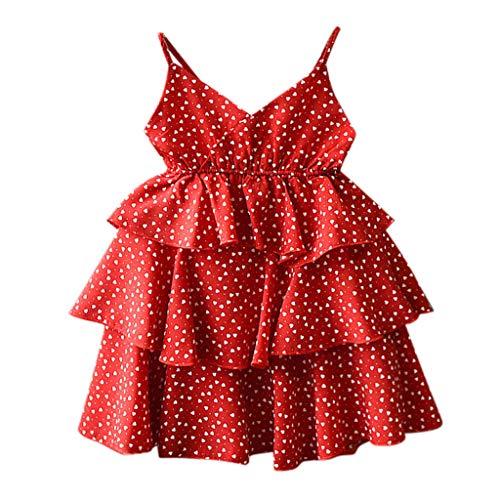 FBGood Sling Prinzessin Kleid Kinder Liebe Druck Ärmellos Kleidung Sommer Baby Kleinkind Spielanzug Neugeborenes Mädchen Kuchen Kleid