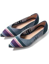 YUNJING Calzado Deportivo Para Mujer Nuevos Zapatos Trenzados De La Mosca Zapatos   Femeninos Acentuados Zapatos...