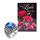 Best Knot Ring - Peora Stainless Steel Celtic Knot Blue Ring Review