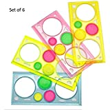 Oytra 6 Piece Designer Ruler Spirograph for Drafting - Stationery for Students - Drawing Set - Learning Art Sets - Creative Educational Gifts for Children