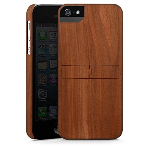 Apple iPhone 6s Hülle Premium Case Cover Kastanie Holz Look Premium Case StandUp