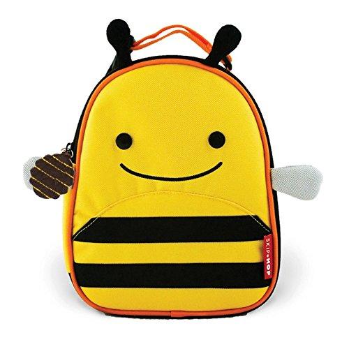 Skip Hop Zoo Lunchie Mini Vespertasche für den Kindergarten, isoliert, mit Namensschild, mehrfarbig, Biene Brooklyn