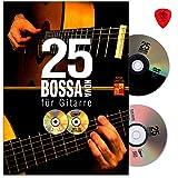 25 Bossa Nova für Gitarre - 25 vollständige Begleitungen im Stil von Bossa Nova-Legenden, wie Gilberto Gil, Stan Getz,