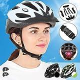 Physionics Fahrradhelm für Erwachsene | mit LED Licht an der Hinterseite des Helmes, inkl. Einstellrad, schlagfest, Farb- und Größenwahl | Radhelm, Skateboard, Fahrrad, Helm Bike