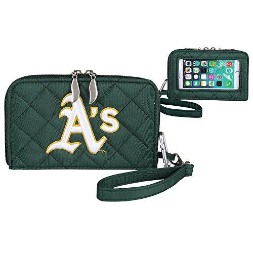 MLB Gesteppt Handy Wallet, One Size, Oakland Athletics Mlb Wallet