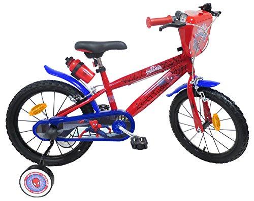 EDEN-BIKES - Bicicleta de 16 Pulgadas para niños con Licencia de Spiderman, 2 Frenos, 16 Pulgadas