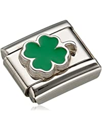 Nomination Composable 330202/12 Women's Charm Shamrock Green Stainless Steel Enamel