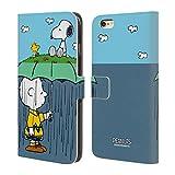 Head Case Designs Offizielle Peanuts Charlie, Snoppy & Woodstock Halbzeiten Und Gelächter Brieftasche Handyhülle aus Leder für iPhone 6 Plus/iPhone 6s Plus
