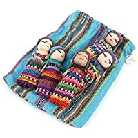 Ethical Roots Worry Dolls - Fair Trade Large and Mini Worry Dolls in Bag Gifts - Handcrafted and Ethically Sourced (Large)