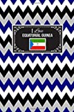 I Love Equatorial Guinea: Patriotic Country National Flag Gift Journal Notebook