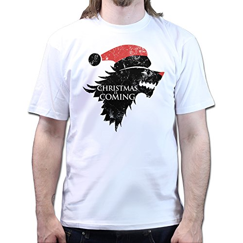 Christmas Winter is Coming Stark Games and Thrones T-shirt Weiß