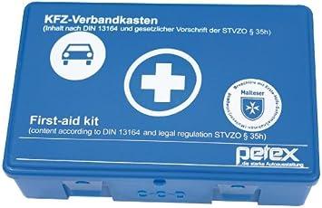 PETEX 43920005 Verbandkasten Inhalt nach DIN 13164, Blau