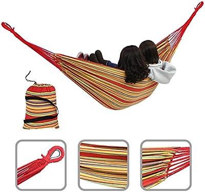 Hamaca de jardín – Hamaca muy confortable – Roja