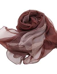 Prettystern - 3 couches porteuses de foulard de soie Solide couleurs 170cm (design italien) - 9 couleurs