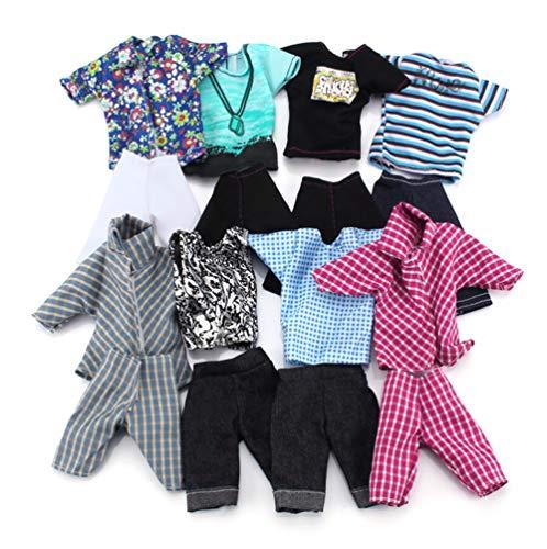 Fully 5 Sets Suits Kleidung Anzüge Kostüm for männliche Puppen (zufällig)