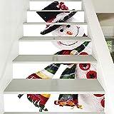 LTT& Weihnachten Treppen Sticker Selbstklebend Abnehmbar Wasserdicht DIY Treppenwandbild 6 Stück 7 X 40 Zoll Wohnkultur HQ013