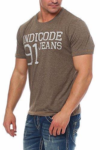 INDICODE Herren T-Shirt Kurzarmshirt Shirt Army