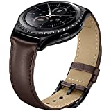 SUNDAREE Gear S2 Classic Armband/Galaxy Watch 42MM Armband/Gear Sport Band,20MM Echt Leder Armband Ersatzarmband Uhrenarmband für Samsung Gear S2 Classic/Galaxy Watch 42MM/Gear Sport(Braun Leder)