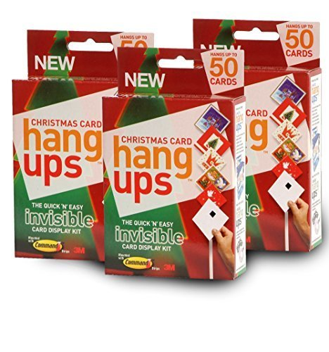 Christmas Card Hang Ups Adhesive Velcro Hanging Display Kit   Quick And Easy  Card Holder For Up To 150 Cards Use On Walls Or Over The Door