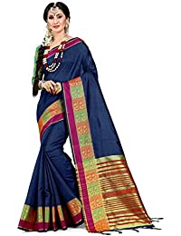 b89bd6fc4c HEART N SOUL Indian Sarees for Women Cotton Silk Woven Saree l Bridal  Wedding Wear Sari