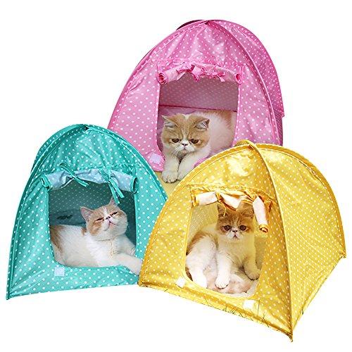 1 tenda da campeggio pieghevole, cuccia per animali domestici (cane, gatto) impermeabile, per esterni