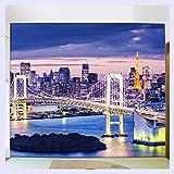 BHXINGMU Benutzerdefinierte Wandbild Tapete Schlafzimmer Stadt Nacht Szene Wohnzimmer Sofa Tv Hintergrund Home Decor Wallpaper Wandbild 3D 230 Cm (H) X 310 Cm (W)