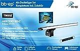 BB-EP/Thule 9131354527 Kompletter Premium Alu-Dachträger für MERCEDES BENZ E-klasse (W211) 4 Türer Stufenheck 2002 bis 2009 - Komplettset mit Aluminium Traverse silber - Inkl. BB-EP Schlüsselband und Insect Erase