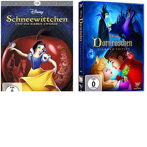 e sieben Zwerge + Dornröschen (Diamond Edition)-2 DVDs-SET-Disney (Schneewittchen Disney Film)