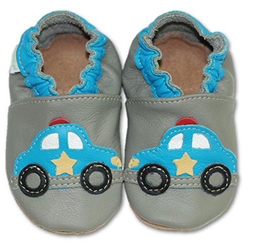 Fiorino , Chaussures souple pour bébé (garçon) noir Cowboy Taille S Polizei