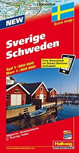 Hallwag Straßenkarten, Schweden (Hallwag Strassenkarten): Alle Infos bei Amazon