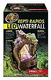 Zoo Med RR-21e ReptiRapids Wasserfall Stein, S, Terrarien Dekoration mit LED und Trinkquelle für Reptilien 18 X 14 X 28 cm