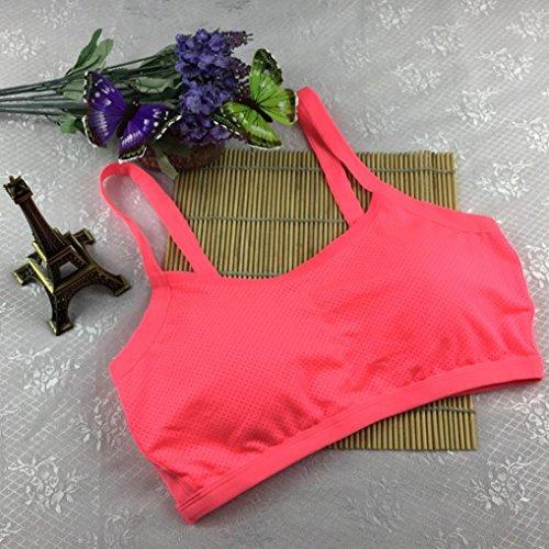 BZLine - Femme Soutien-gorge de Yoga - en Coton mélangé - Dos nu pink