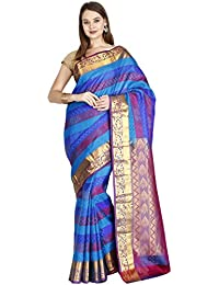 The Chennai Silks Silk with Blouse Piece Saree (CCMYSS6310_Multicolor_Free Size)