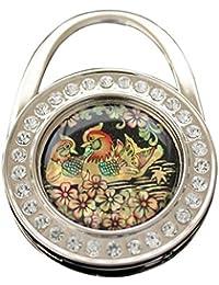 Porte-sac à main paon oriental cadeau de nacre