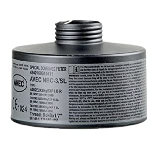 AVEC CHEM - Breathing mask filter, for particles, gas, NBC or as combination filter.