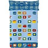 Cállate la Boca iPhone - Juego de funda nórdica, 2 piezas, para cama de 90 cm, 150 x 220 cm