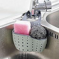 Hunpta Sink Shelf Soap Sponge Drain Rack Bathroom Holder Kitchen Storage Suction Cup (C)