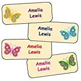 Pegatinas Personalizadas Con El Nombre Y Apellido | Adhesivos Personalizados Impermeables Con Motivos De Mariposas