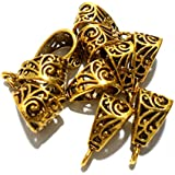 Goelx Antique Golden Bails/Loops for Jewellery Making & Craft Work - Design 7