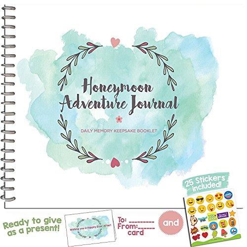 Das perfekte Geschenk Honeymoon-Honeymoon Foto Album und Adventure Tagebuch mit Emoji-Sticker und ein Passende Karten-Machen Perfekte Memory Book für die beste Reise of your life.