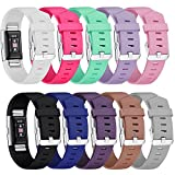 Fitbit Charge 2 Strap Bands, Mornex Classic Adjustable Wristband Replacement, TPU Band Sport Straps with Metal Clasp for Fitbit Charge 2 Small Large