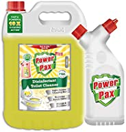 PaxChem PowerPax Plus Disinfectant Toilet Cleaner with Refillable and Reusable Bottle, 5 L (Citrus)