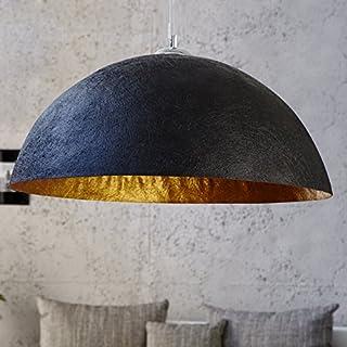 XXL Hängeleuchte Gleam 70cm Ø Gold/Schwarz Küchen u. Esszimmerleuchte - Designer Hängelampe von ambientica -