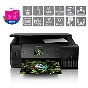 Epson EcoTank ET-7700 A4 Print/Scan/Copy Wi-Fi Photo Printer