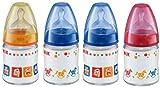 NUK 10211007 - First Choice Glasflasche 120ml mit Silikon-Ventilsauger, Farbe nicht frei wählbar