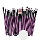 Make Up Pinsel Set,Cooljun 20pcs Make-Up Pinsel Pinselset Schminkpinsel Kosmetikpinsel Kosmetik Brush (B)